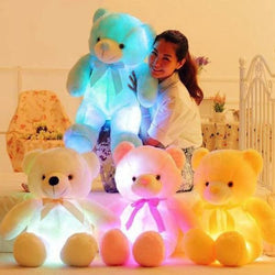 glow in the dark teddy bear plush stuffed animal LED Light Up Night Light Soft Toy Jumbo Plushies Stuffies Nursery Crib Toys ABDL | DDLG Playground
