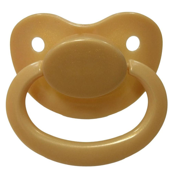 gold yellow glitter adult pacifier paci binkie soother mouth guard nipple autism autistic little space ddlg cgl abdl cglre age regression agere