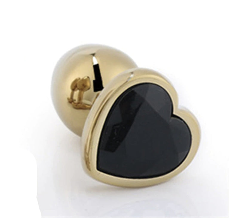 Golden Heart Plugs - Black - plugs
