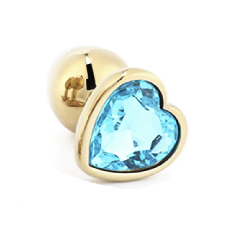 Golden Heart Plugs - Light Blue - plugs