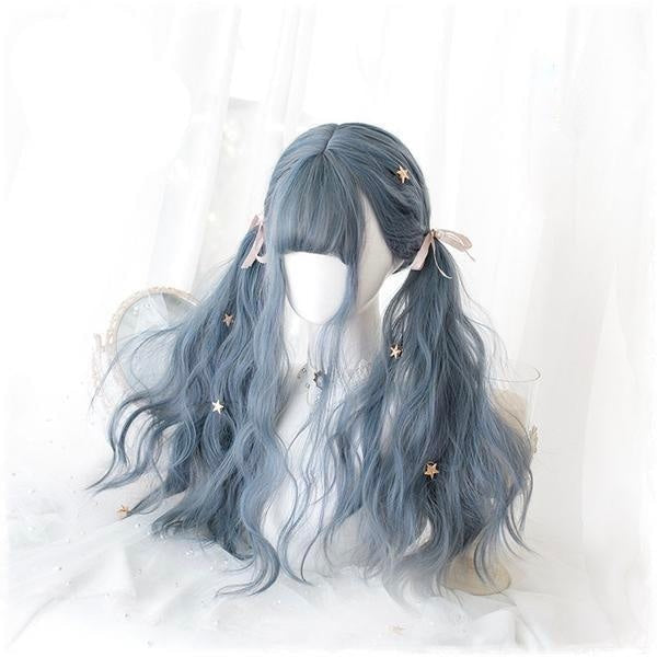 Dark Blue Pastel Goth Lolita Wig Cosplay Harajuku Fashion
