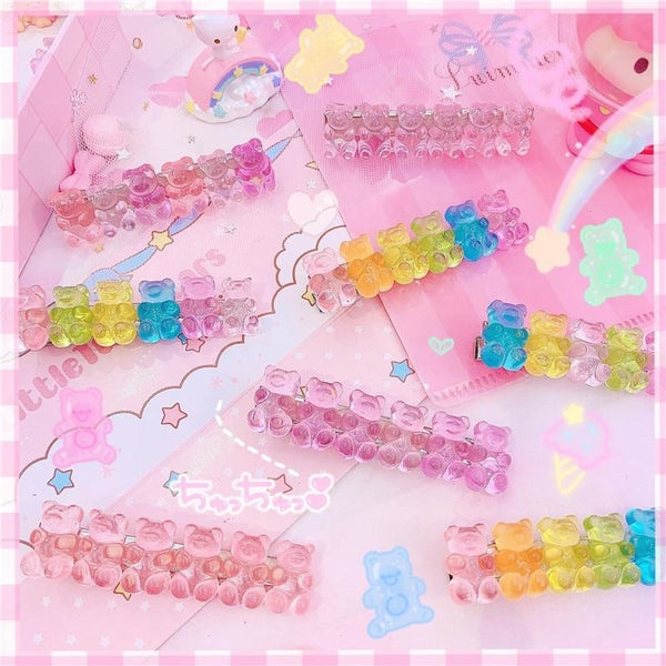 Gummy Bear Hair Clippies - accessories