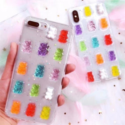 Candy Gummy Bear 3D iPhone Case Apple Phone Protector Decoden Cute
