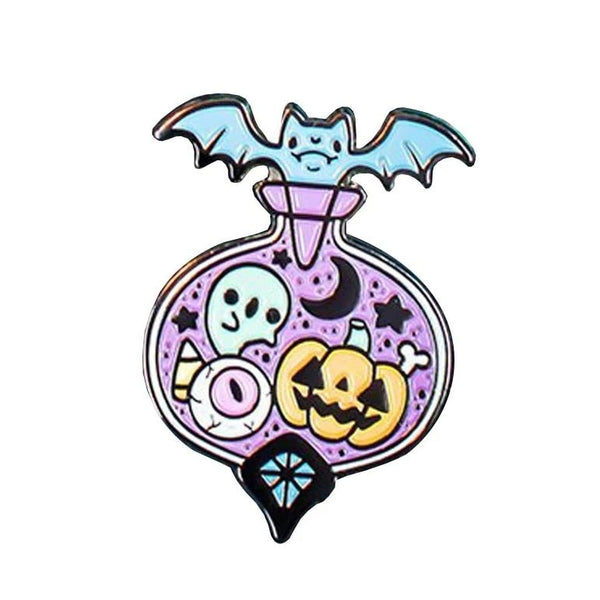 Halloween Pastel Goth Potion Enamel Pin Lapel Brooch Creepy Cute Kawaii