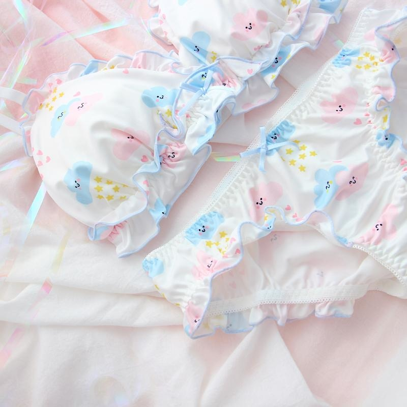 Happy Clouds Lingerie Set - underwear