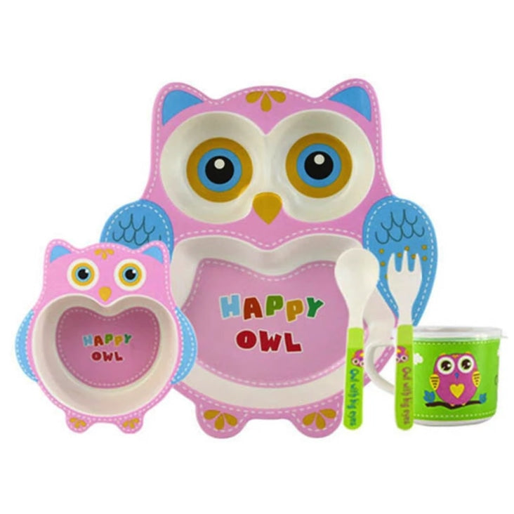 Happy Owl Dinner Set - food