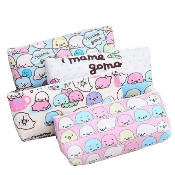 Kawaii Baby Whale Shark Seal Pencil Case Makeup Bag Station Satchel