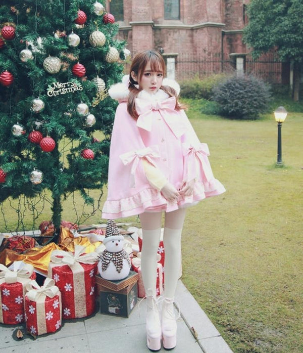 Holiday Lolita Poncho Coat - jacket