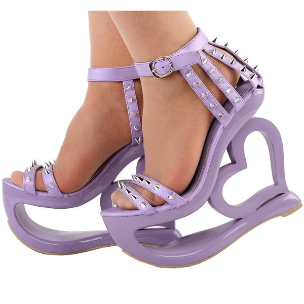 Hollow Heart Platforms - Shoes