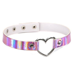 holographic heart choker necklace leash bdsm ball gag abdl cgl ddlg playground
