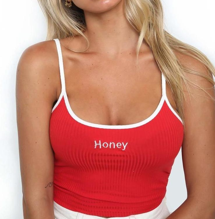 Honey Crop Top - Red / L - shirt