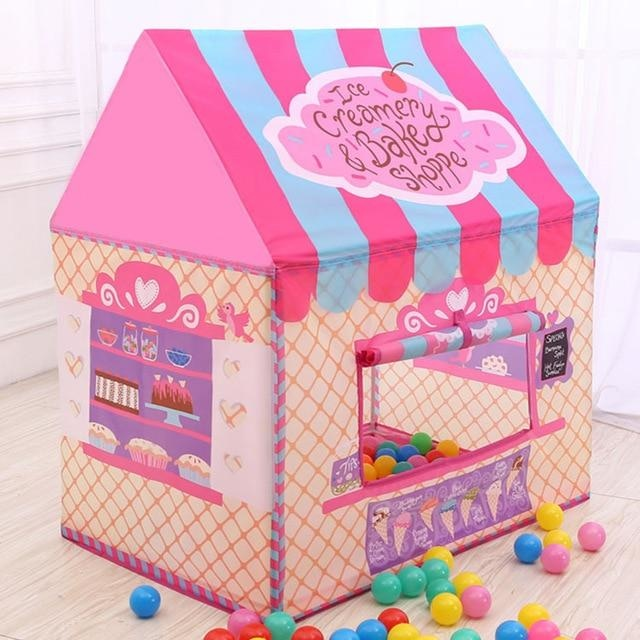 Pink Princess Icecream Shop Play Tent Bakery Cute Playpen ABDL CGL Ageplay Kink Fetish | DDLG Playground