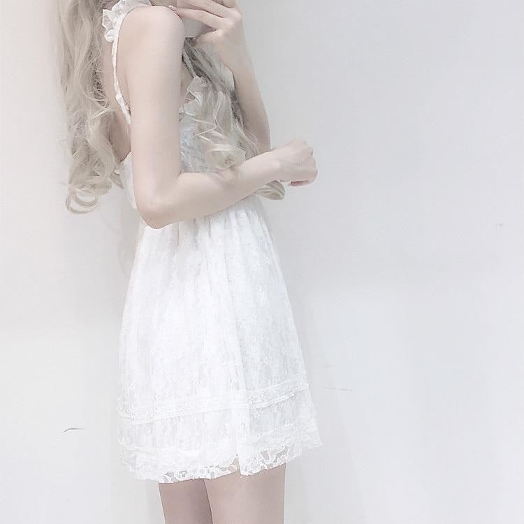 Innocent White Lace Dress - dress