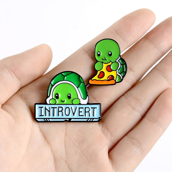 Introverted Turtle Pins - pin