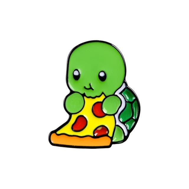Introverted Turtle Pins - Pizza Turtle - pin