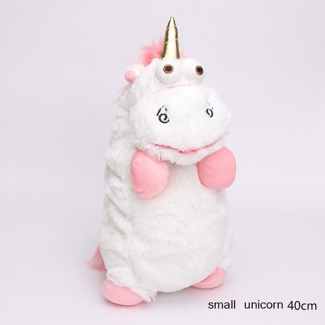 Despicable Me Plush Toys Soft Stuffed Animal Unicorn It's So FLuffy White Pink Hair Toy Stuffy ABDL Age Play by DDLG Playground