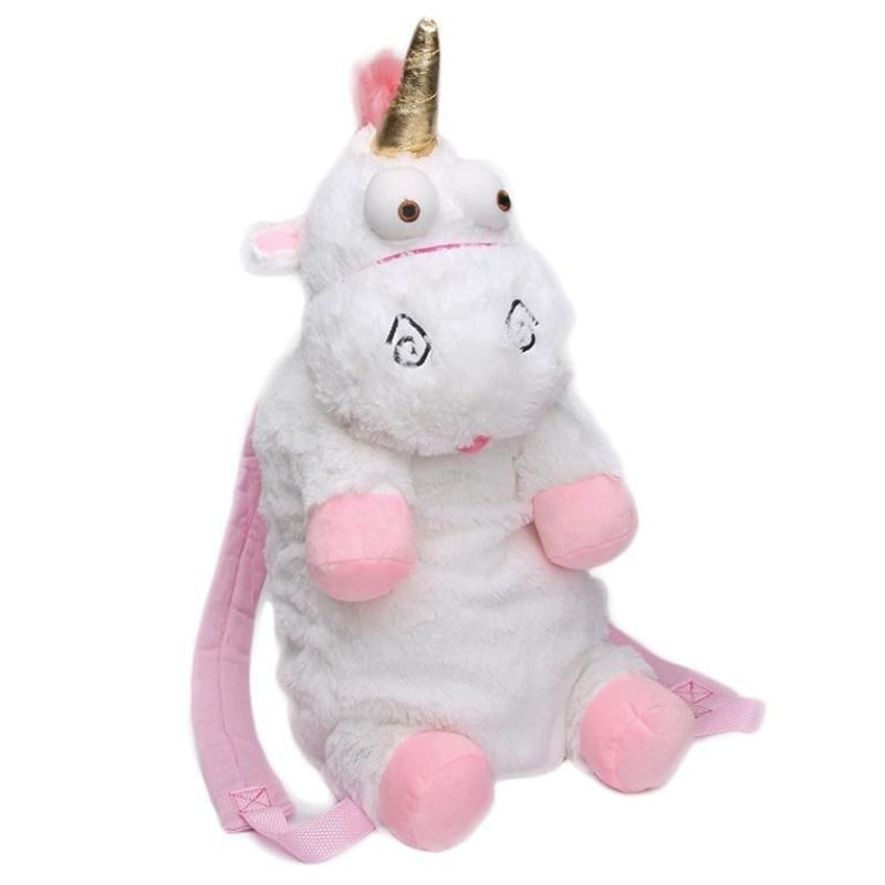 White It's So Fluffy Unicorn Backpack Book Bag Knapsack School Disney Despicable Me Movie by DDLG Playground
