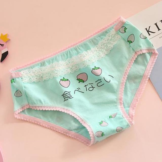 Japanese Strawberry Undies - Mint - Underwear