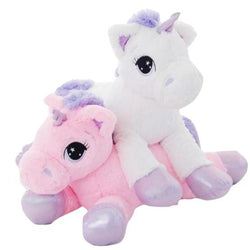 Jumbo Fluffy Unicorn Plush - stuffed animal