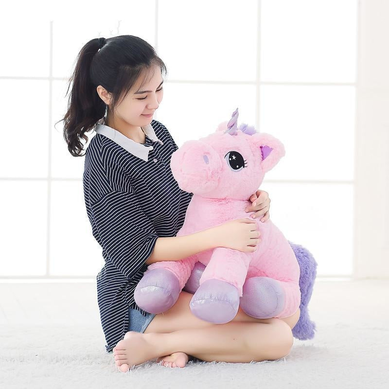 oversized jumbo unicorn plush toy soft stuffed animal magical enchanted unicorns horn fairy kei pastel abdl cgl by ddlg playground