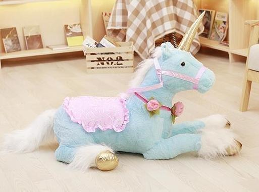 Jumbo Riding Unicorn (3 Colors) - Stuffed Animal