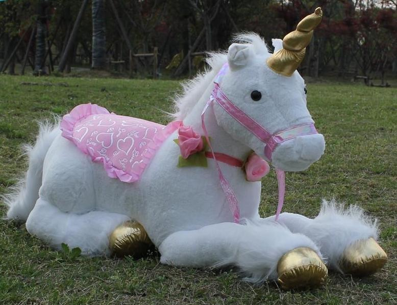 Jumbo Riding Unicorn Life Size Plush Animal Abdl Ddlg