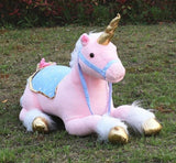 jumbo life size pink unicorn stuffed animal plush soft toy riding realistic huge majesty magical unicorn mythological creature bedroom nursery decor abdl cgl little space mdlb dd/lg by ddlg playground