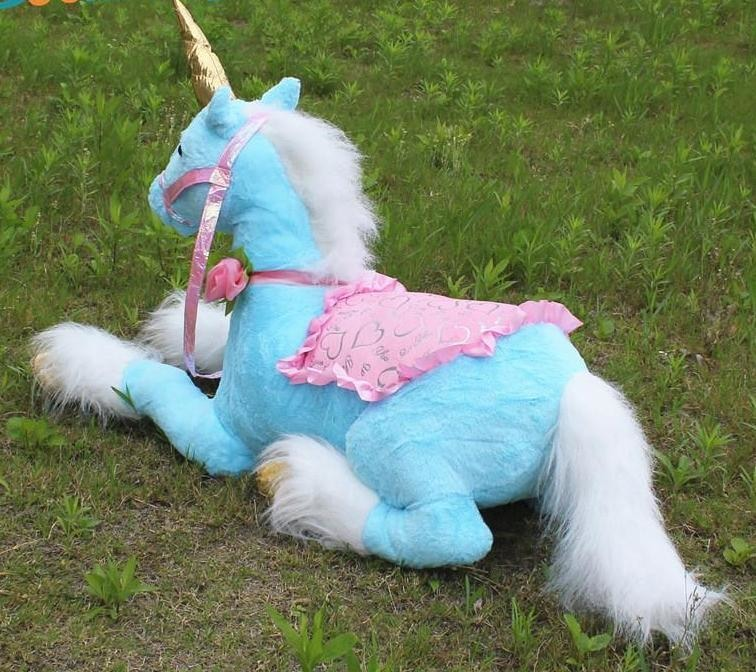 jumbo life size blue unicorn stuffed animal plush soft toy riding realistic huge majesty magical unicorn mythological creature bedroom nursery decor abdl cgl little space mdlb dd/lg by ddlg playground