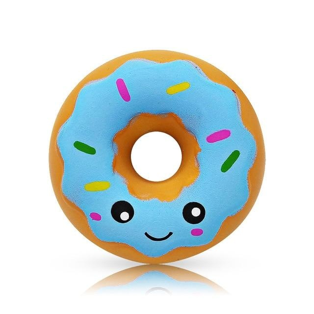 Kawaii Food Squishies - Blue Donut - squishy