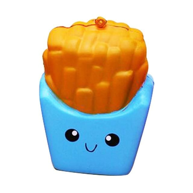 Kawaii Food Squishies - Blue French Fries - squishy