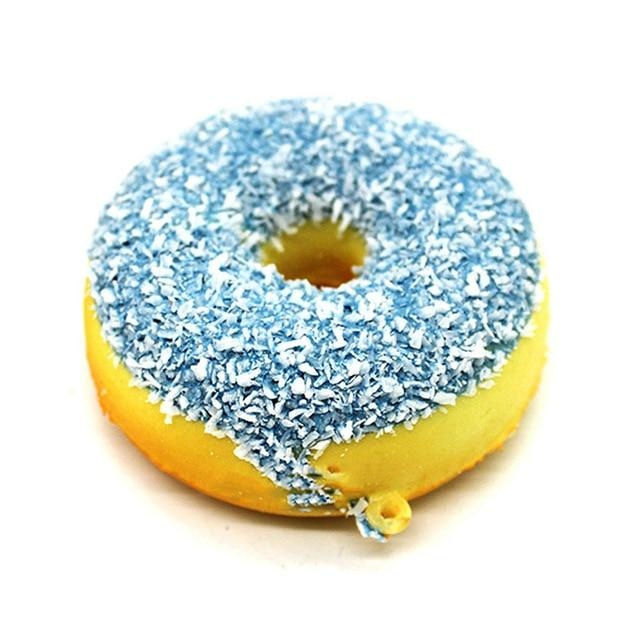 Kawaii Food Squishies - Blue Sprinkle Donut - squishy