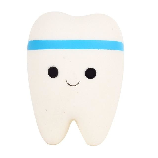 Kawaii Food Squishies - Blue Tooth - squishy