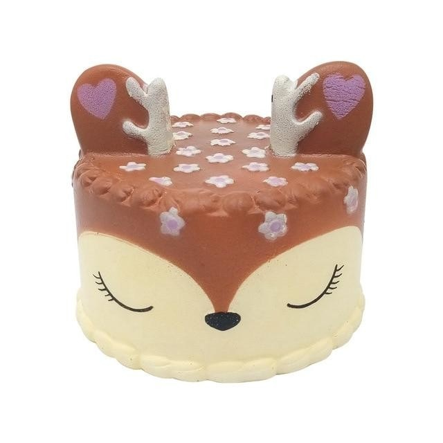 Kawaii Food Squishies - Deer Cake - squishy
