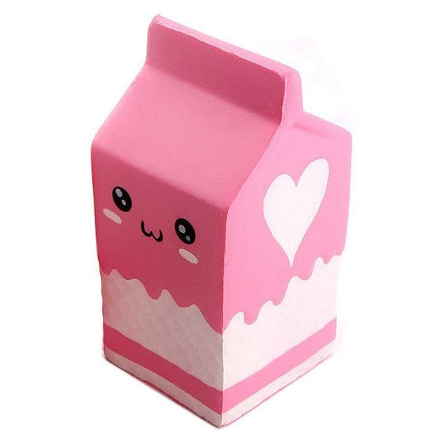 Kawaii Food Squishies - Pink Milk - squishy