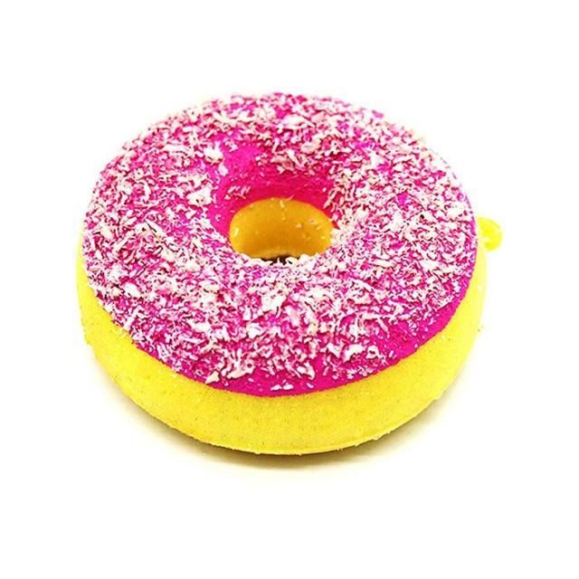 Kawaii Food Squishies - Pink Sprinkle Donut - squishy