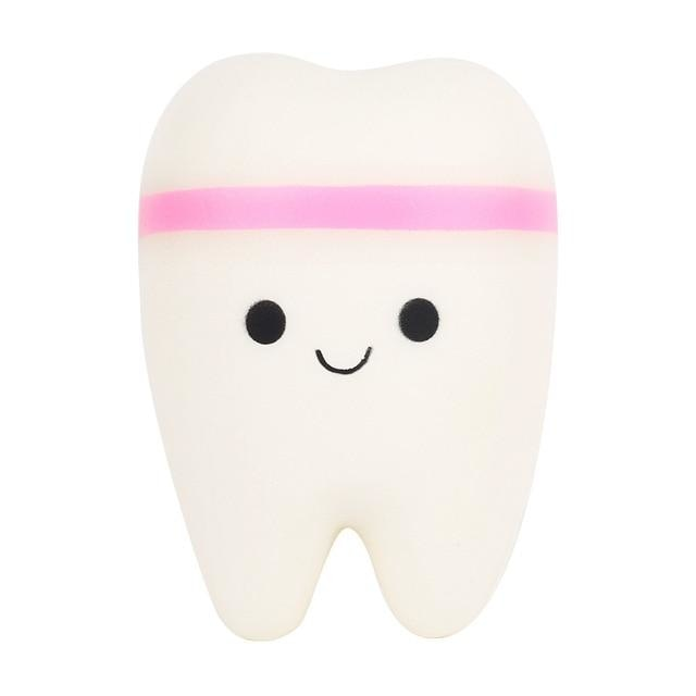 Kawaii Food Squishies - Pink Tooth - squishy