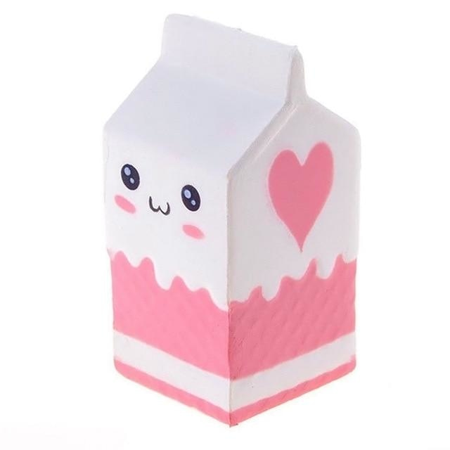 Kawaii Food Squishies - White Milk - squishy