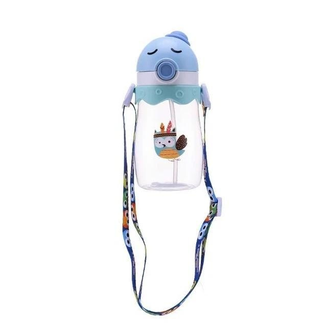 Kawaii Handlebar Sippies - Blue Green Owl 450ml - stuffed animal
