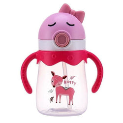 Kawaii Handlebar Sippies - Pink Red Deer 350ml - stuffed animal