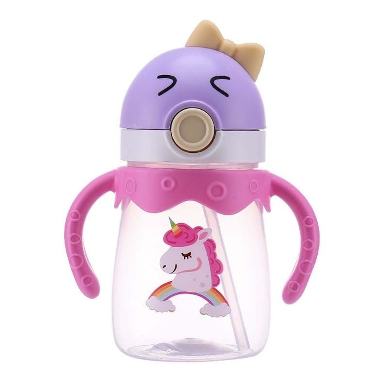 Kawaii Handlebar Sippies - Purple Pink Horse 350ml - stuffed animal