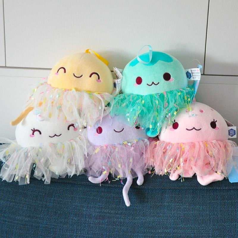 Kawaii Glitter Jellyfish Squid Sea Creature Plush Toy Kawaii Babe
