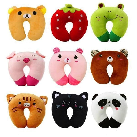 kawaii baby animals neck support pillow u shaped cushion travel cartoon animal airplane headrest ABDL CGL by DDLG Playground