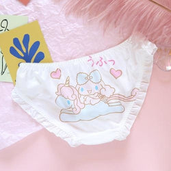 Well Thank You Kawaii Panties - Unicorn Ride / M - cinnamoroll, fairy kei, fairykei, littlespace, melody