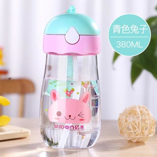 Kawaii Strap Sippies - Blue Rabbit 380ml - cup