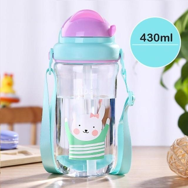Kawaii Strap Sippies - Blue Rabbit 430ml - cup