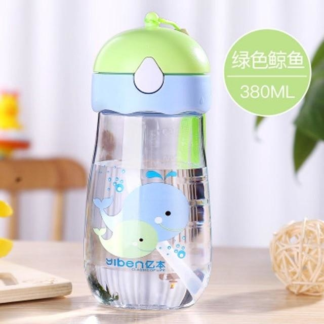 Kawaii Strap Sippies - Green Whale 380ml - cup