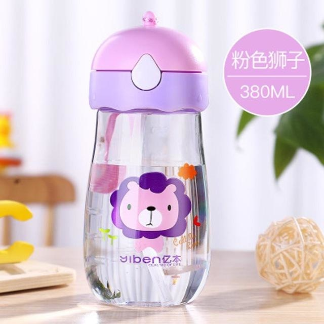 Kawaii Strap Sippies - Pink Lion Head 380ml - cup