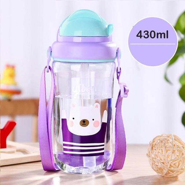 Kawaii Strap Sippies - Purple Bear 430ml - cup