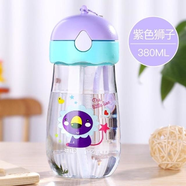 Kawaii Strap Sippies - Purple Lion 380ml - cup