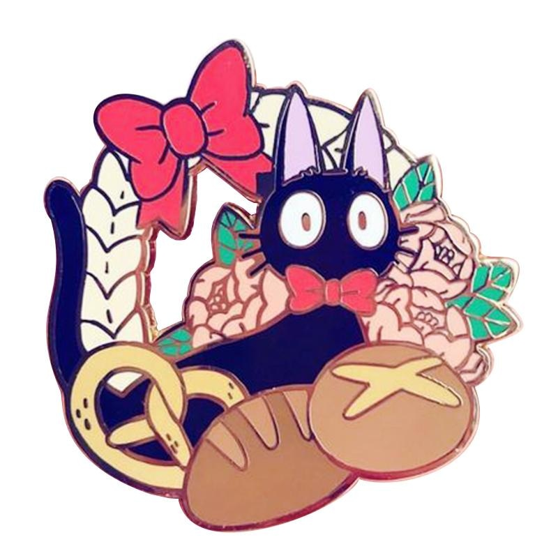 Kiki's Delivery Service Cat Enamel Pin Lapel Brooch Jiji Kawaii Anime Studio Ghibli